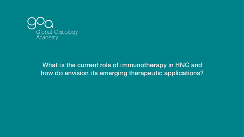 Role of Immunotherapy in Head & Neck Cancer